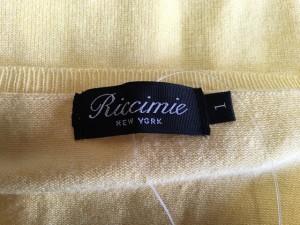 リッチミーニューヨーク Riccimie NEW YORK カーディガン サイズ1 S レディース 美品 イエロー フラワー【中古】