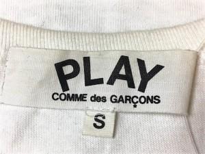 プレイコムデギャルソン PLAY COMMEdesGARCONS 半袖Tシャツ サイズS レディース 白×黒×グリーン ハート【中古】