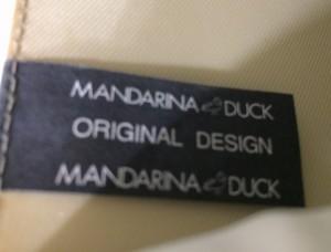 マンダリナダック MANDARINA DUCK ハンドバッグ アイボリー レザー【中古】