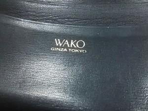 ワコー WAKO 2つ折り財布 レディース 黒 レザー【中古】