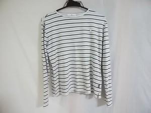 クレージュ COURREGES 長袖Tシャツ サイズ40 M レディース 白×ライトグレー×黒 ボーダー【中古】