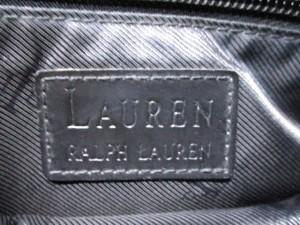 ラルフローレン RalphLauren ショルダーバッグ 白×黒×グレー 千鳥格子 ジャガード×レザー【中古】