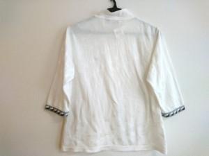 ブラック&ホワイト Black&White 七分袖カットソー サイズ1 S レディース 美品 白×グレー×黒【中古】