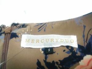 マーキュリーデュオ MERCURYDUO ワンピース サイズF レディース 美品 グレー×マルチ 花柄【中古】
