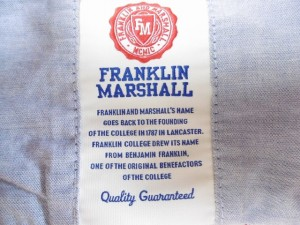 フランクリンアンドマーシャル 長袖シャツ サイズM メンズ レッド×ネイビー×マルチ CLASSIC FIT/チェック柄/フード付き【中古】