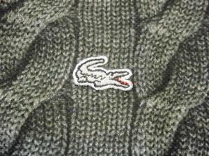 ラコステ Lacoste 半袖ポロシャツ サイズ2 M メンズ 美品 グレー×ダークグレー×黒【中古】