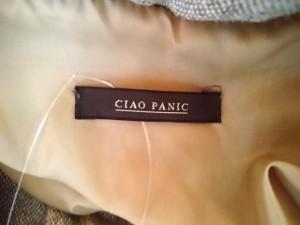 チャオパニック CIAOPANIC ダウンジャケット サイズM  M レディース ライトブラウン×レッド×黒【中古】