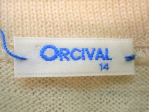 オーシバル ORCIVAL ワンピース サイズ14 XL レディース 美品 アイボリー×ブルー ボーダー/ニット【中古】
