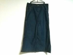 レイビームス RAY BEAMS ロングスカート サイズ1 S レディース 美品 ネイビー デニム【中古】