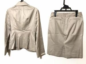 ストロベリーフィールズ STRAWBERRY-FIELDS スカートスーツ レディース 美品 ベージュ【中古】