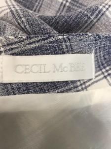 セシルマクビー CECILMcBEE ワンピース サイズM レディース 美品 ブルー×ライトグレー×白 チェック柄【中古】
