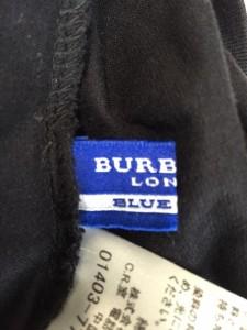 バーバリーブルーレーベル Burberry Blue Label 長袖Tシャツ サイズ38 M レディース 黒×ベージュ【中古】