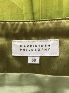 マッキントッシュフィロソフィー MACKINTOSH PHILOSOPHY スカート サイズ38 L レディース 美品 ライトグリーン【中古】