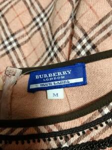 バーバリーブルーレーベル Burberry Blue Label ワンピース レディース 美品 ピンク×ダークブラウン×白 チェック柄【中古】