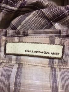 ガリャルダガランテ GALLARDAGALANTE 長袖シャツブラウス レディース ベージュ×ダークブラウン×ゴールド ラメ/チェック柄【中古】