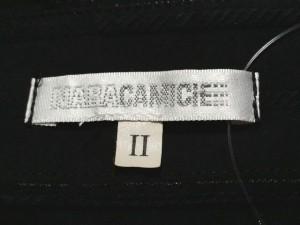 ナラカミーチェ NARACAMICIE 長袖シャツブラウス サイズ2 M レディース 美品 黒 ストライプ【中古】