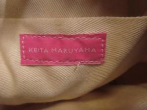 ケイタマルヤマ KEITA MARUYAMA トートバッグ オレンジ×グリーン×マルチ かごバッグ ジャガード×ラタン【中古】