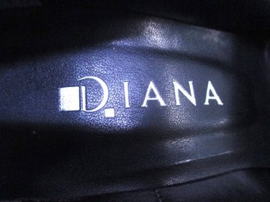 ダイアナ DIANA パンプス 23 1/2 レディース 黒 リボン レザー【中古】