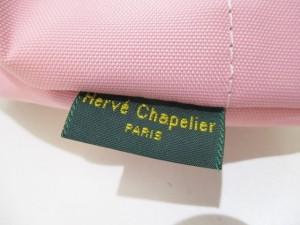 エルベシャプリエ Herve Chapelier ショルダーバッグ 美品 ピンク×ダークブラウン ミニバッグ ナイロン【中古】