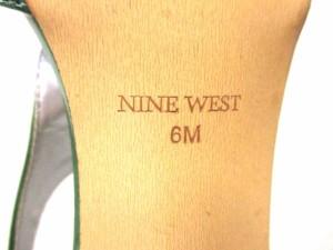 ナインウエスト NINE WEST パンプス 6 レディース グリーン オープントゥ エナメル(レザー)【中古】