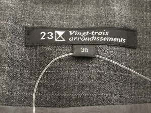 ニジュウサンク 23区 スカート サイズ38 M レディース 美品 グレー vingt-trois arrondissements【中古】