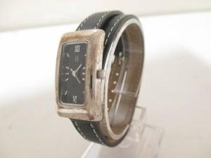 レイジースーザン LAZY SUSAN 腕時計 - レディース 革ベルト 黒【中古】