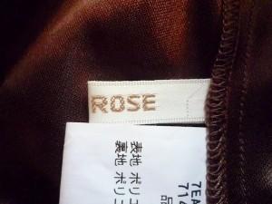 レストローズ L'EST ROSE ワンピース サイズ2 M レディース ダークブラウン×アイボリー×マルチ チェック柄【中古】