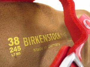 ビルケンシュトック BIRKEN STOCK サンダル 38245 レディース レッド エナメル(レザー)【中古】
