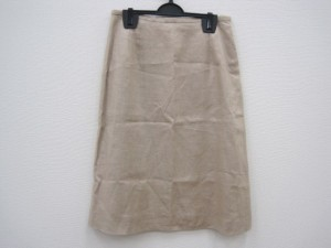 エムズグレイシー M'S GRACY スカート サイズ9 M レディース 美品 ベージュ【中古】