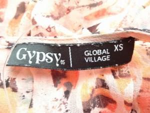 ジプシー05 Gypsy05 半袖カットソー サイズXS レディース ピンク×ダークブラウン×マルチ シースルー【中古】