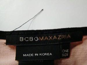 ビーシービージーマックスアズリア BCBGMAXAZRIA ノースリーブセーター レディース ピンク×黒【中古】