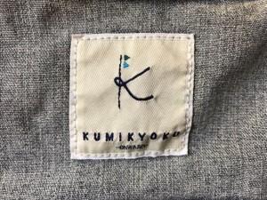 クミキョク 組曲 KUMIKYOKU Gジャン サイズ7 S レディース ライトグレー×ネイビー【中古】