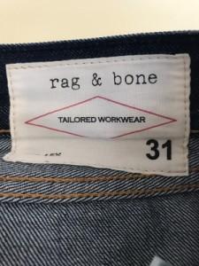 ラグアンドボーン rag&bone ジーンズ メンズ ネイビー ダメージ加工/TAILORED WORKWEAR【中古】