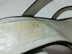 スキャパ Scapa ミュール 37 レディース 黒 オープントゥ エナメル(レザー)【中古】