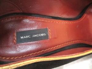 マークジェイコブス MARC JACOBS パンプス 35 レディース 黒×ゴールド スエード×レザー【中古】