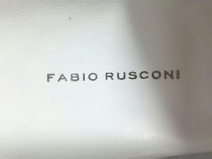 ファビオルスコーニ FABIO RUSCONI ミュール レディース 美品 シルバー×白 グリッター×レザー【中古】