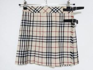バーバリーブルーレーベル Burberry Blue Label 巻きスカート サイズ36 S レディース 美品 ベージュ×黒×ボルドー チェック柄【中古】