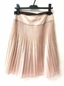 バーバリーロンドン Burberry LONDON スカート サイズ40 L レディース ピンク プリーツ【中古】