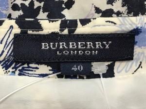 バーバリーロンドン Burberry LONDON スカート サイズ40 L レディース 白×ネイビー×マルチ 花柄【中古】