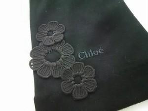 クロエ Chloe 手袋 レディース 新品同様 黒 フラワー コットン【中古】