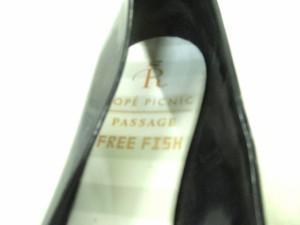 ロペピクニック RopePicnic フラットシューズ 36 レディース 黒 リボン/FREE FISH ビニール【中古】