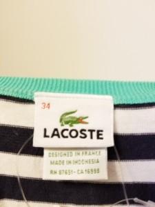 ラコステ Lacoste チュニック レディース 白×ネイビー×グリーン ボーダー【中古】