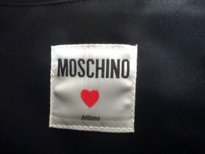 モスキーノ MOSCHINO ショルダーバッグ 黒 レザー【中古】
