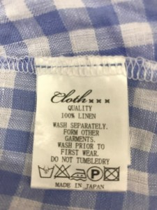 クロス&クロス Cloth&Cross 半袖シャツブラウス レディース 美品 アイボリー×ライトブルー チェック柄【中古】