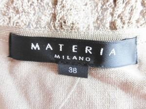 マテリア MATERIA 七分袖カットソー サイズ38 M レディース 美品 ベージュ レース【中古】