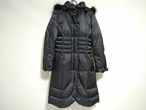 トゥービーシック TO BE CHIC ダウンコート サイズ40 M レディース 黒 ロング丈/冬物【中古】