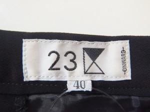 ニジュウサンク 23区 パンツ サイズ40 M レディース 美品 黒【中古】