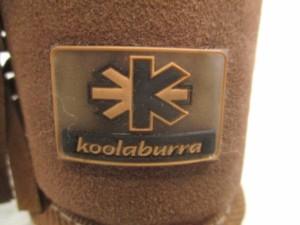 クーラブラ koolaburra ショートブーツ レディース 美品 ブラウン×ゴールド スタッズ/フリンジ ムートン×金属素材【中古】