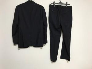 インヘイルエクスヘイル INHALE EXHALE シングルスーツ メンズ ダークネイビー ストライプ【中古】