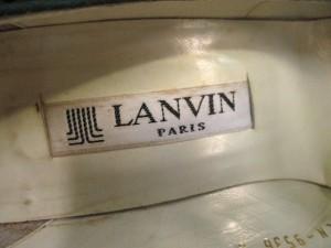 ランバン LANVIN パンプス 6 レディース グリーン×クリア ラインストーン スエード【中古】